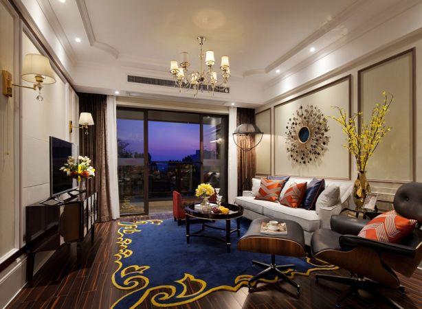 2018欧式110平米装修设计 2018欧式三居室装修设计图片