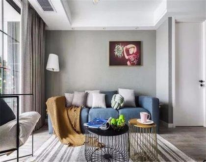 97平北欧风格两居室装修效果图