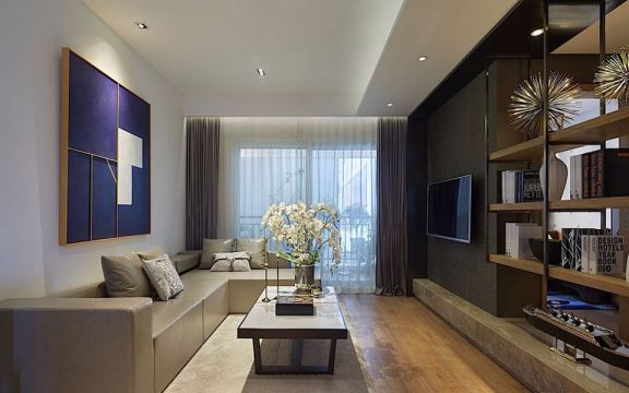 76平现代风格两居室装修效果图