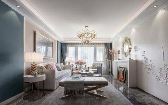 115平欧式风格三居室装修效果图