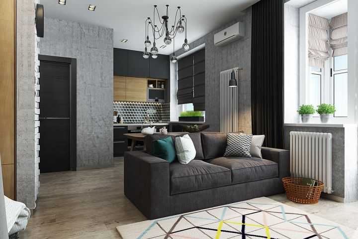 58平北欧风格一居室装修效果图