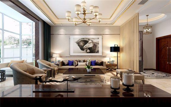 300平米新中式风格别墅装修效果图