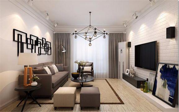84平米北欧风格三居室装修效果图