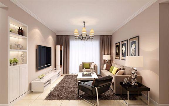 103平米现代简约风格三居室装修效果图