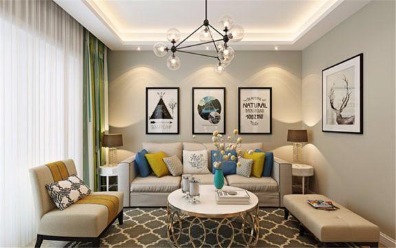 81平现代简约风格三居室装修效果图