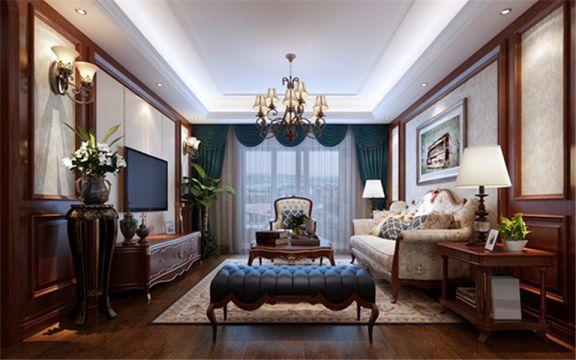 136平中式古典风格四居室装修效果图