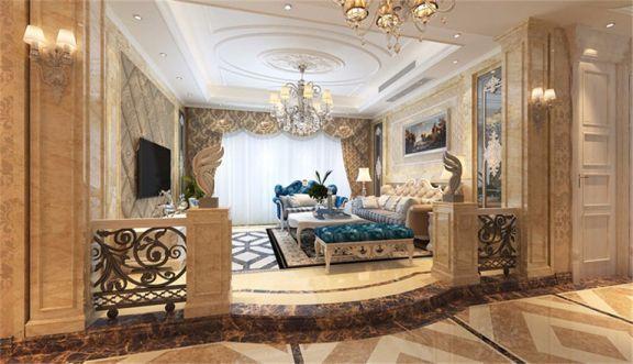 178平欧式风格两居室装修效果图