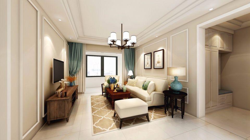 108平美式风格三居室装修效果图