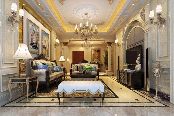 118平欧式风格两居室装修效果图