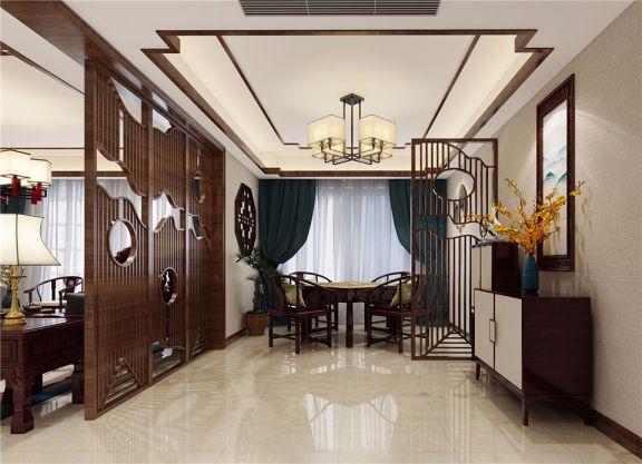 餐厅窗帘中式风格装修图片