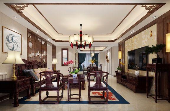 客厅沙发中式风格装修设计图片