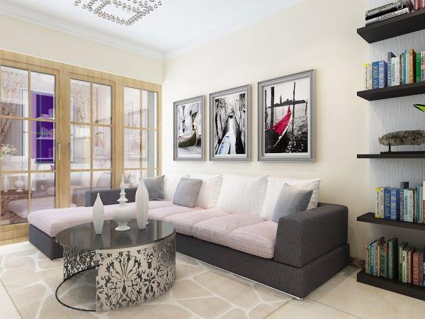 77平现代风格两居室装修效果图