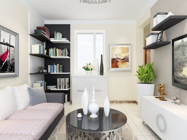 客厅书架现代风格装饰设计图片