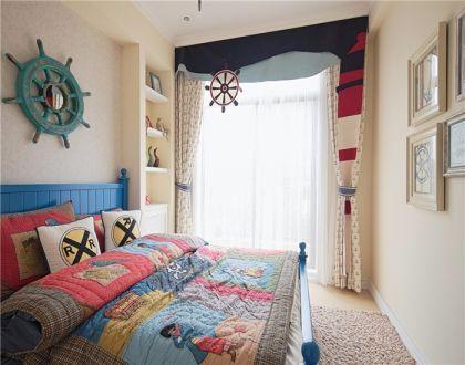 儿童房床地中海风格装潢效果图
