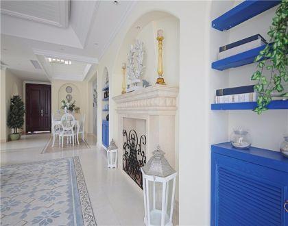 客厅地砖地中海风格装修图片