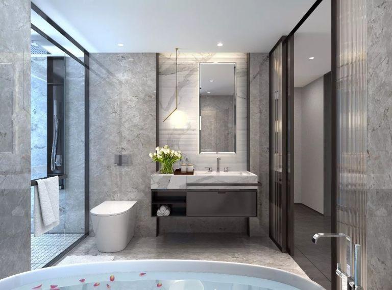 卫生间洗漱台新中式风格装潢设计图片