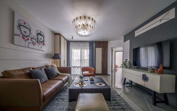 78平混搭风格两居室装修效果图