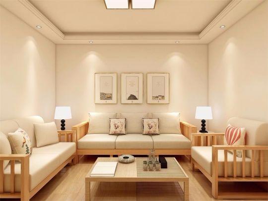 120平日式风格三室两厅装修效果图