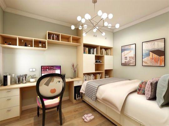 卧室书桌日式风格装饰效果图
