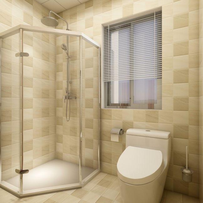 卫生间背景墙日式风格装潢效果图