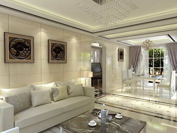 178平现代简约风格三居室装修效果图