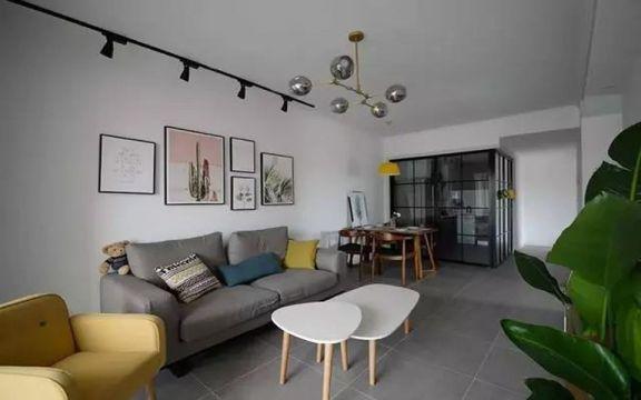 87平简约风格两居室装修效果图