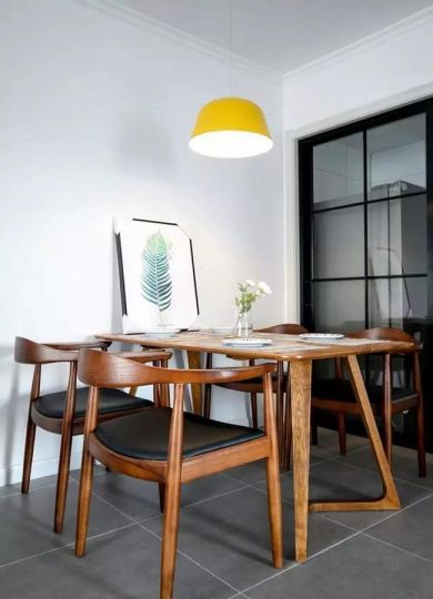 餐厅地砖简欧风格装饰设计图片
