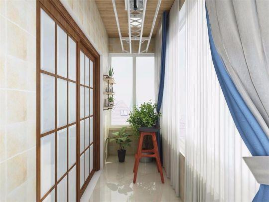 阳台走廊简约风格装饰效果图
