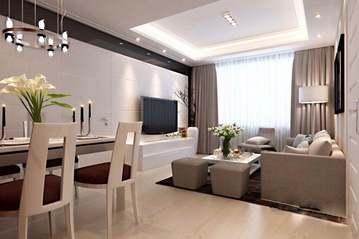 客厅窗帘简约风格装修效果图