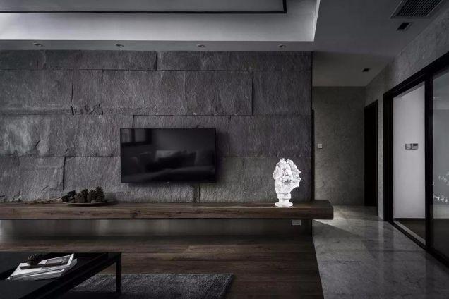 客厅电视背景墙现代简约风格装潢设计图片