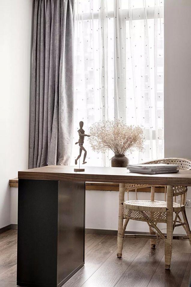 书房窗帘现代简约风格装饰图片