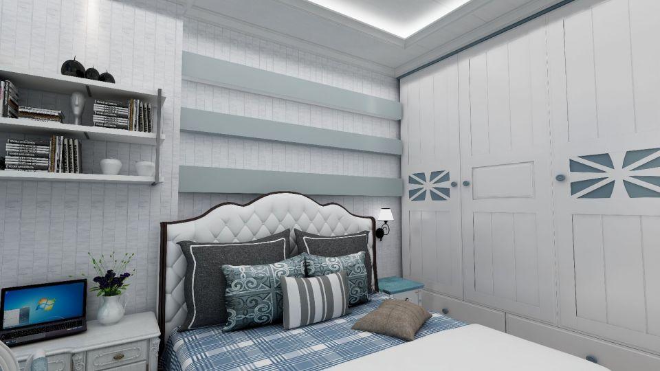 2019地中海卧室装修设计图片 2019地中海衣柜装修设计图片
