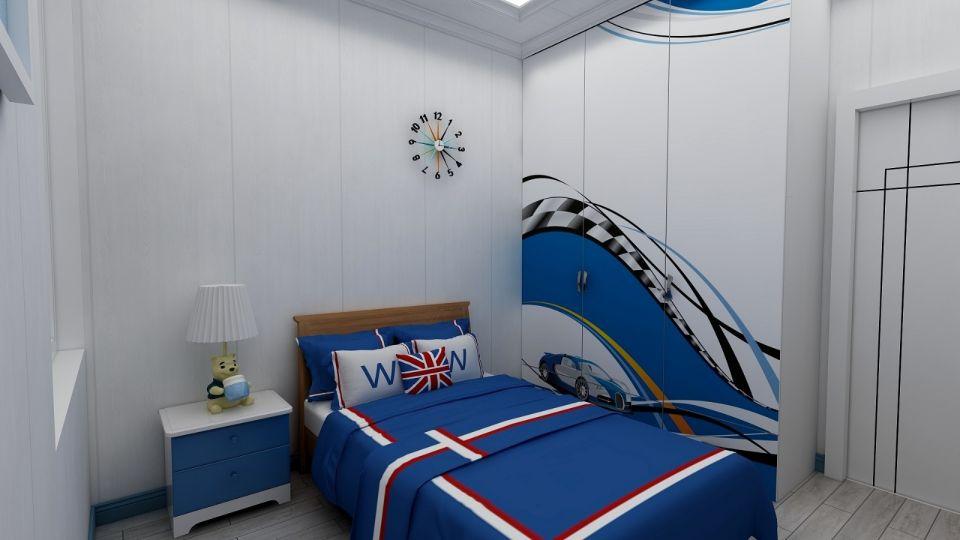 纯净卧室床装潢设计图片