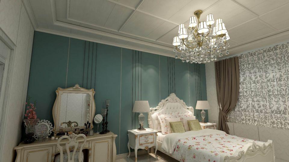 完美白色卧室装潢效果图