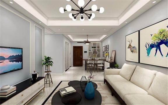 客厅米色沙发现代简约风格装修图片