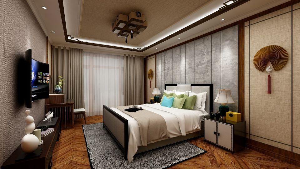 时尚卧室中式装饰设计