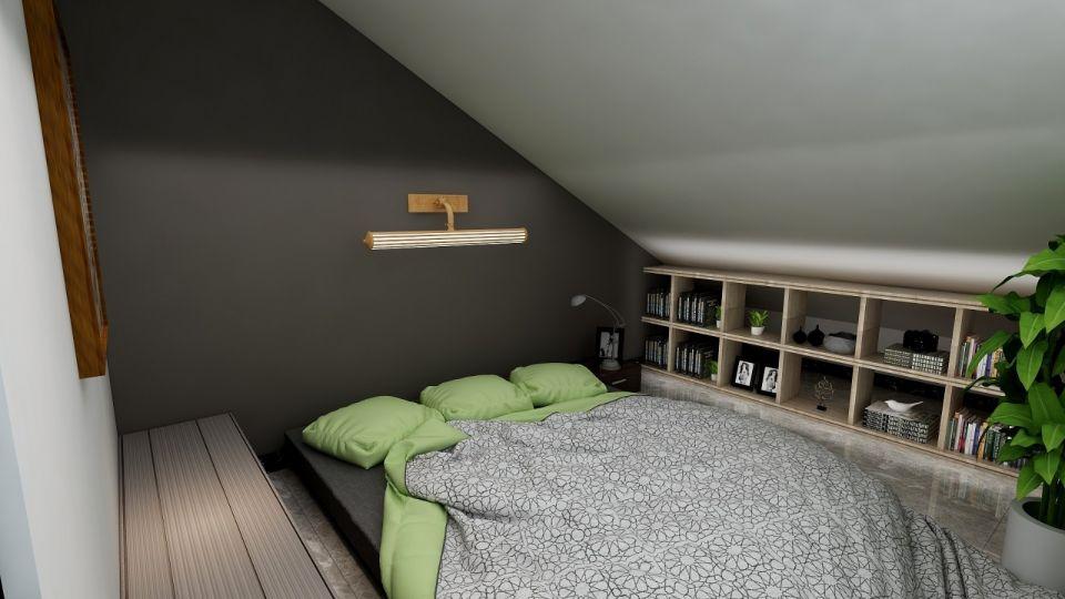 卧室灰色阁楼现代风格装饰效果图