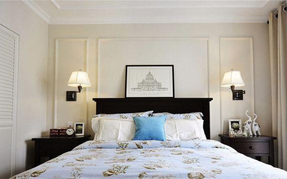 质感咖啡色床室内装饰