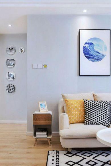 客厅黄色地砖现代欧式风格装饰设计图片