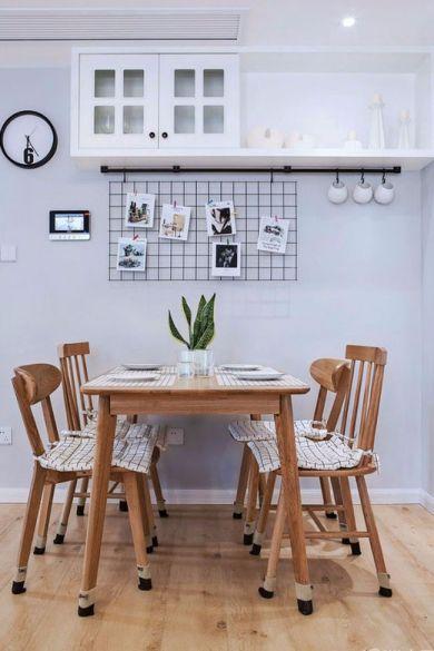餐厅咖啡色餐桌现代欧式风格装潢设计图片