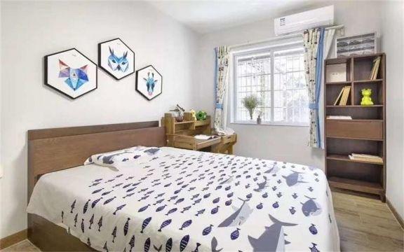 卧室书架现代简约装饰效果图