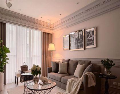 客厅灰色沙发新古典风格效果图