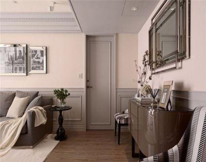 客厅咖啡色地砖新古典风格装饰效果图