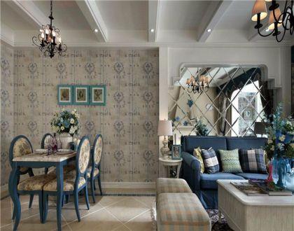 餐厅米色餐桌地中海风格装潢效果图