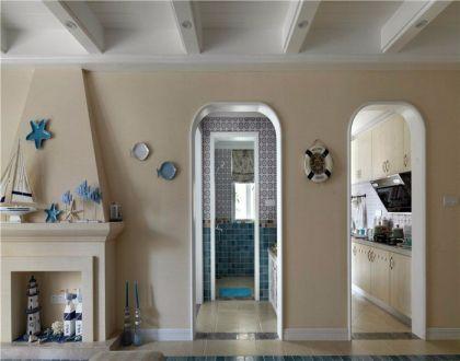 厨房米色橱柜地中海风格装饰图片