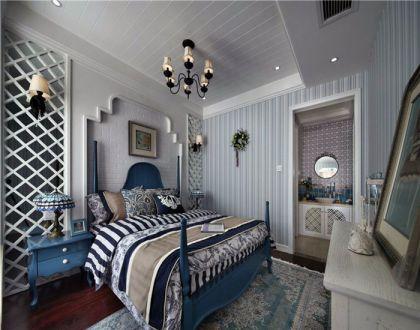 优雅白色卧室装修实景图片