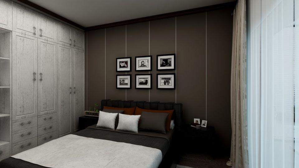 休闲咖啡色卧室装饰设计图片