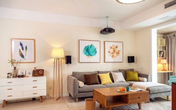 清新现代灰色沙发室内装修图片