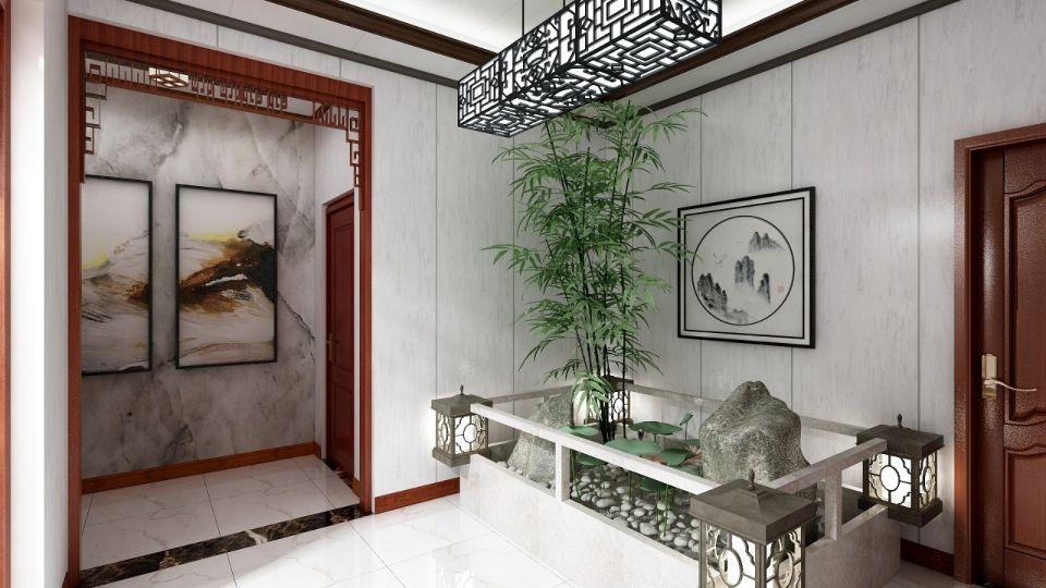 完美玄关中式设计图欣赏