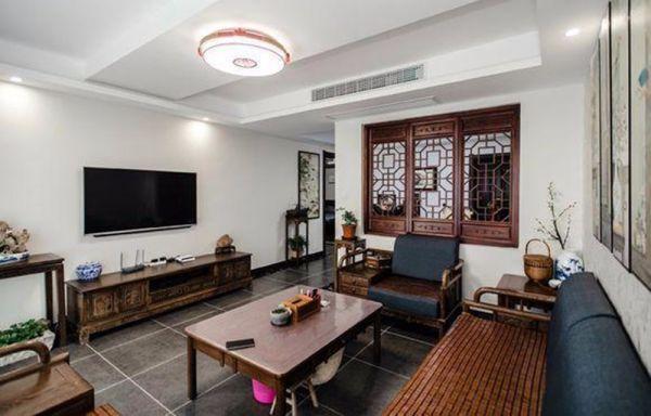 简单大气咖啡色客厅家装设计